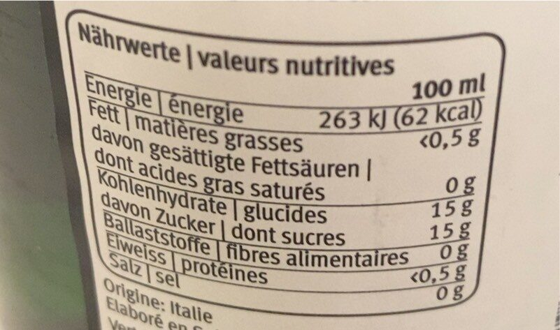 Perldor - Nutrition facts - fr