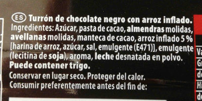 Suchard negro - Ingredientes