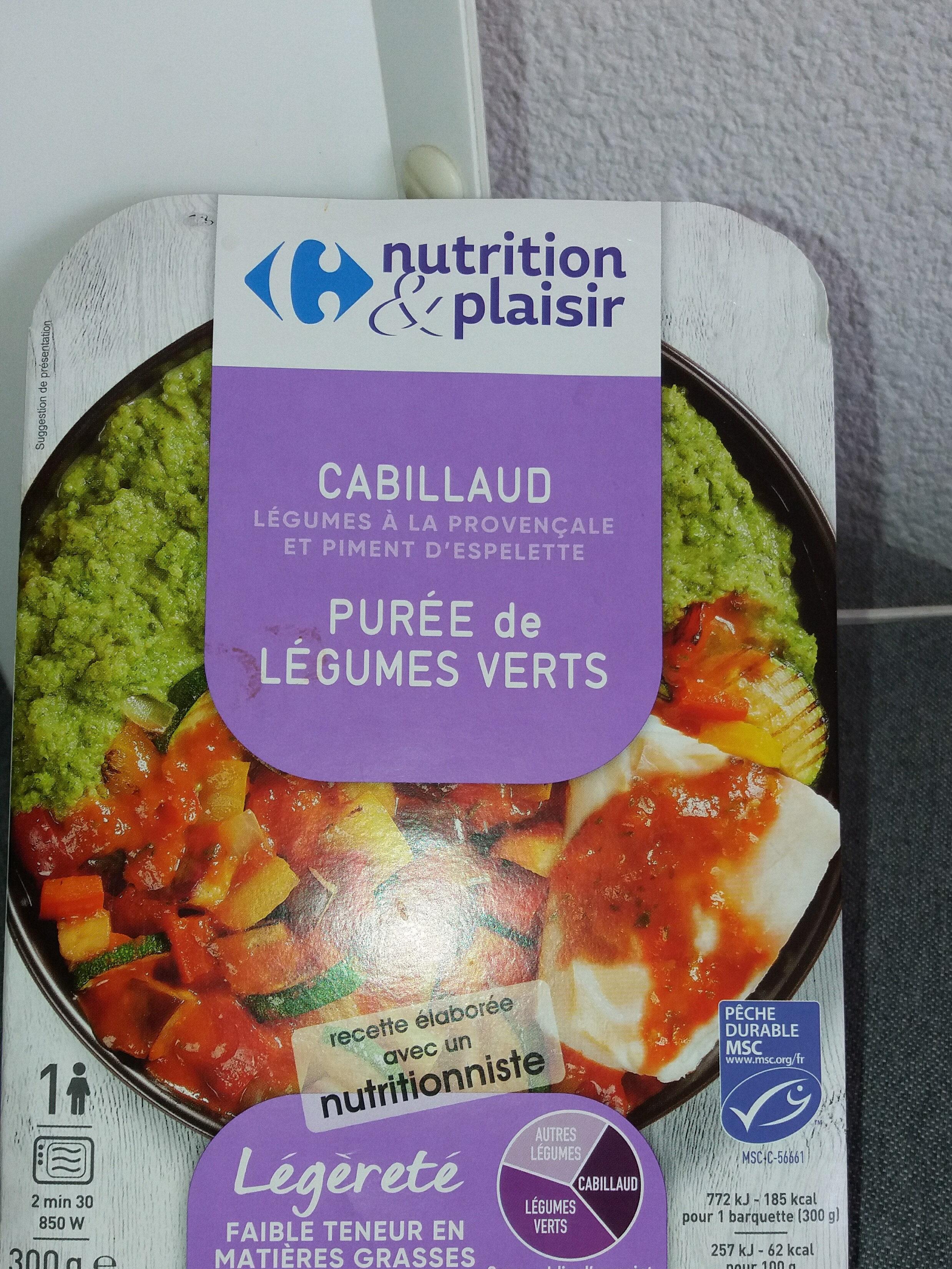 Nutrition Plaisir  Cabillaud purée de légumes verts - Produit