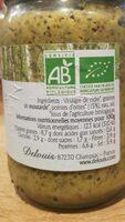 Moutarde entière aux pointes d'orties - Informations nutritionnelles - fr