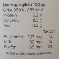 Skyr - Nutrition facts - is