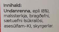 - Ingredients - is