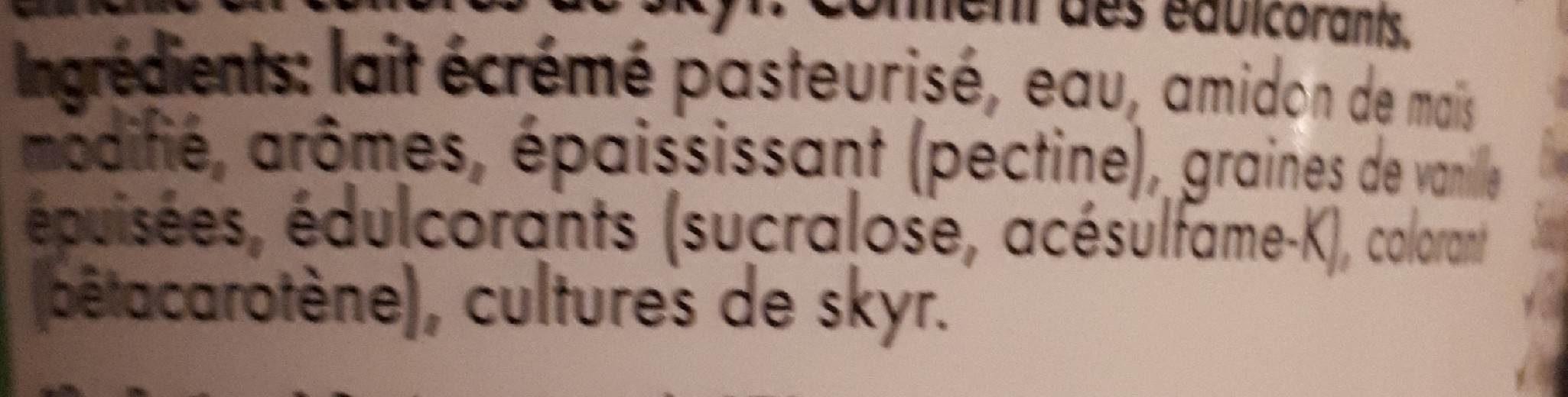 skyr vanille - Ingredienti - fr