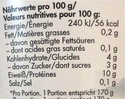 skyr vanille - Valori nutrizionali - fr
