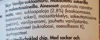 SKYR Vanilja-suklaamuru - Ainesosat - fr