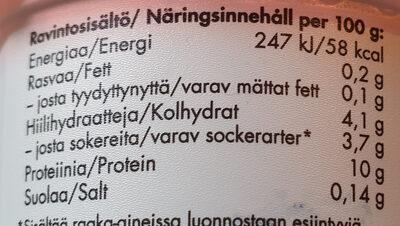 Skyr Granaattiomena-vadelma - Valori nutrizionali - fi