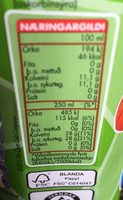 Slavi pomme - Informations nutritionnelles - fr