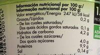 Isey Skyr Mango - Informació nutricional - es