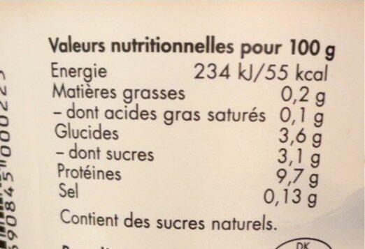 Isey Skyr Vanille - Informations nutritionnelles - fr