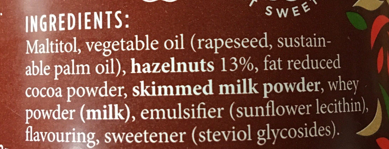 Choco hazel with stevia - Ingrédients - en