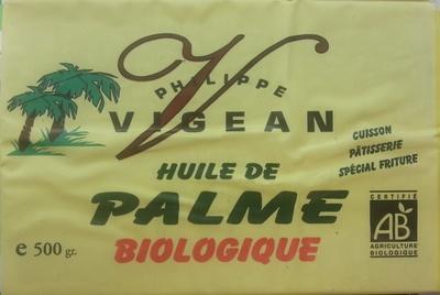 Huile de palme biologique - Produit
