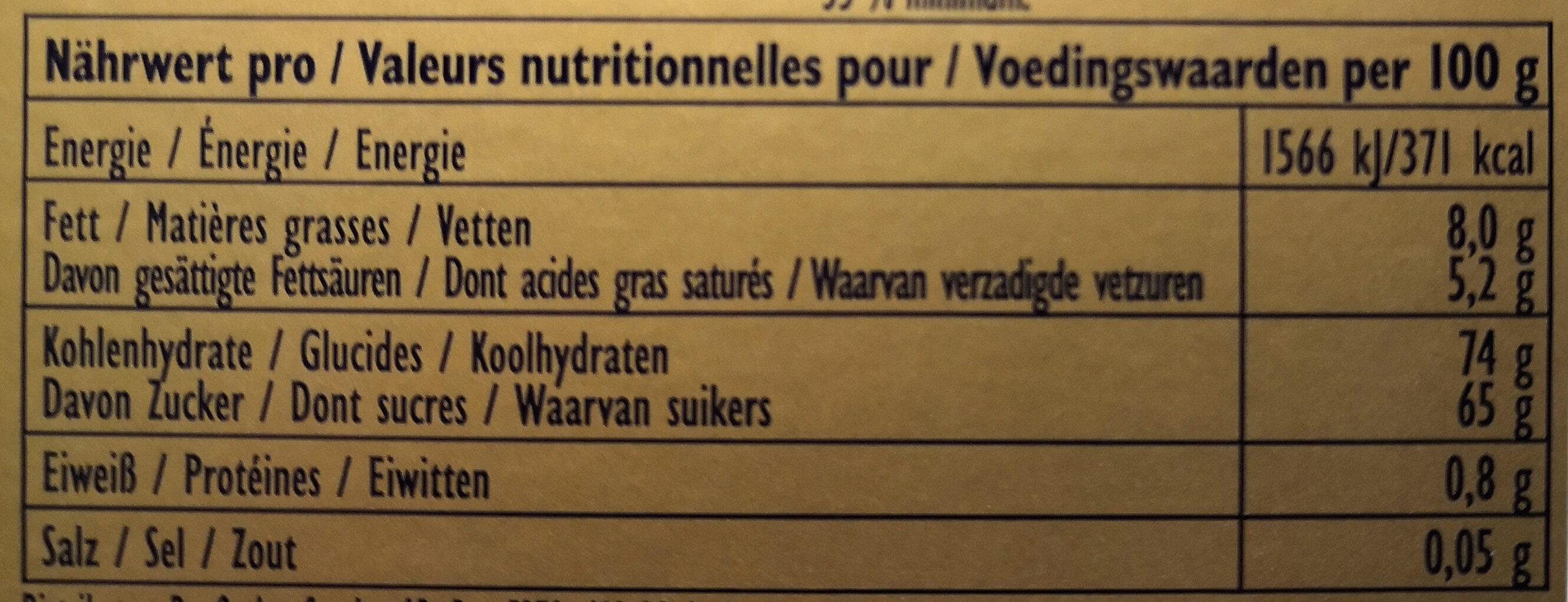 Decor-kit - Voedingswaarden - de