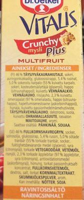 VITALIS - Ingrediënten - fr