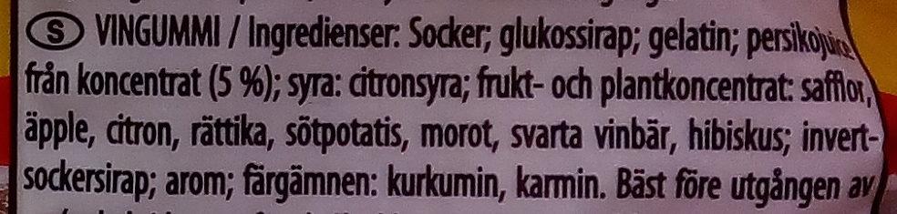 Haribo Persikor - Ingredients