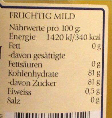 sonnenblumen - Nutrition facts - de
