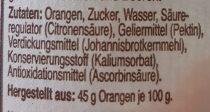 Orange den (Gamle Fabrik) - Ingrediënten - de