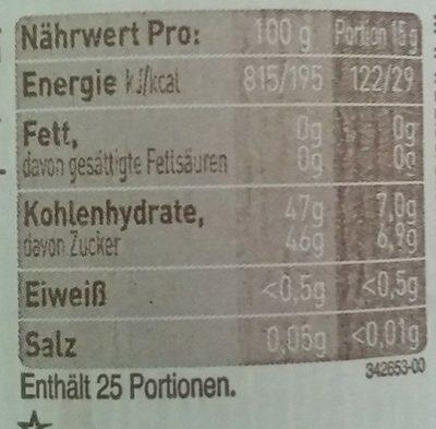 Dänischer Fruchtaufstrich Erdbeere - Nährwertangaben