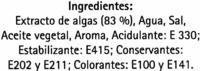 Seaweed-caviar wasabi - Ingredientes - es