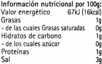 Seaweed-caviar wasabi - Información nutricional - es