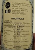 vanilje sukker - Product