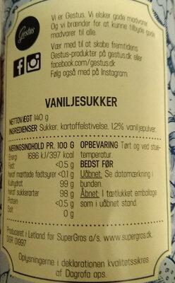 vanilje sukker - Ingrediënten