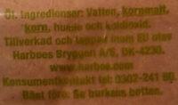 Harboe Pilsner - Ingrédients - sv