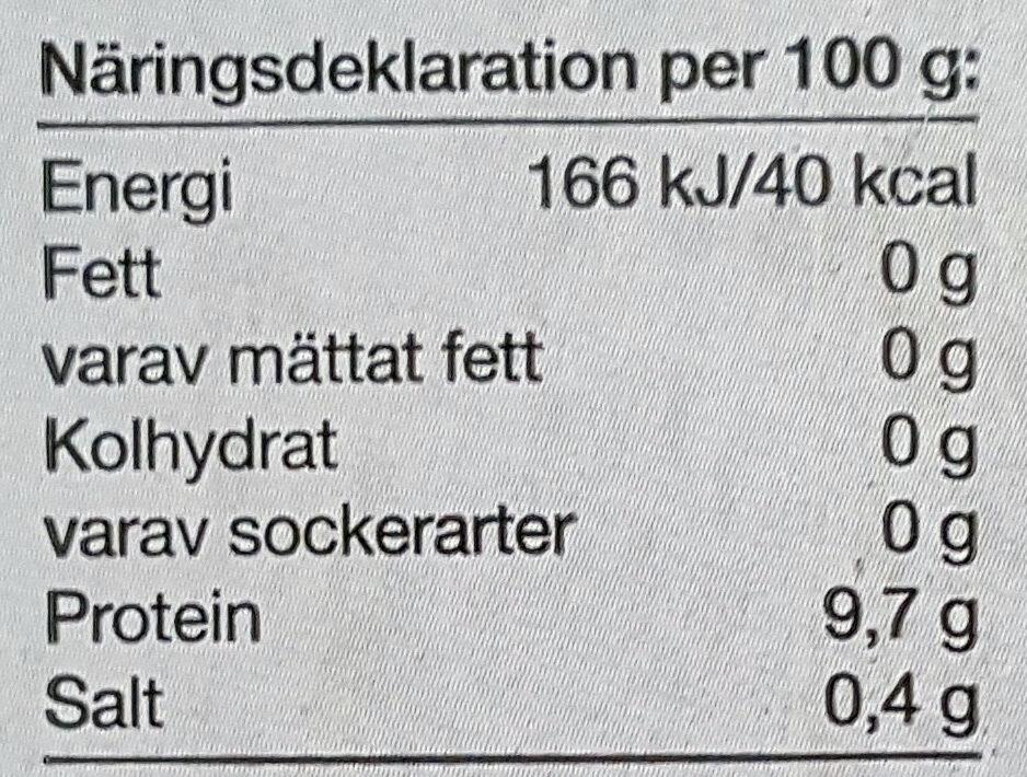 Pastöriserade äggvitor från frigående höns - Informations nutritionnelles - sv