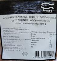 Camarón entero cocido - Product