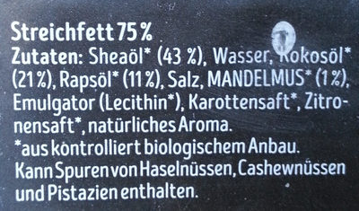 Streichzartet Block - Ingredients