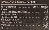 Organic Spread vegano - Información nutricional - es