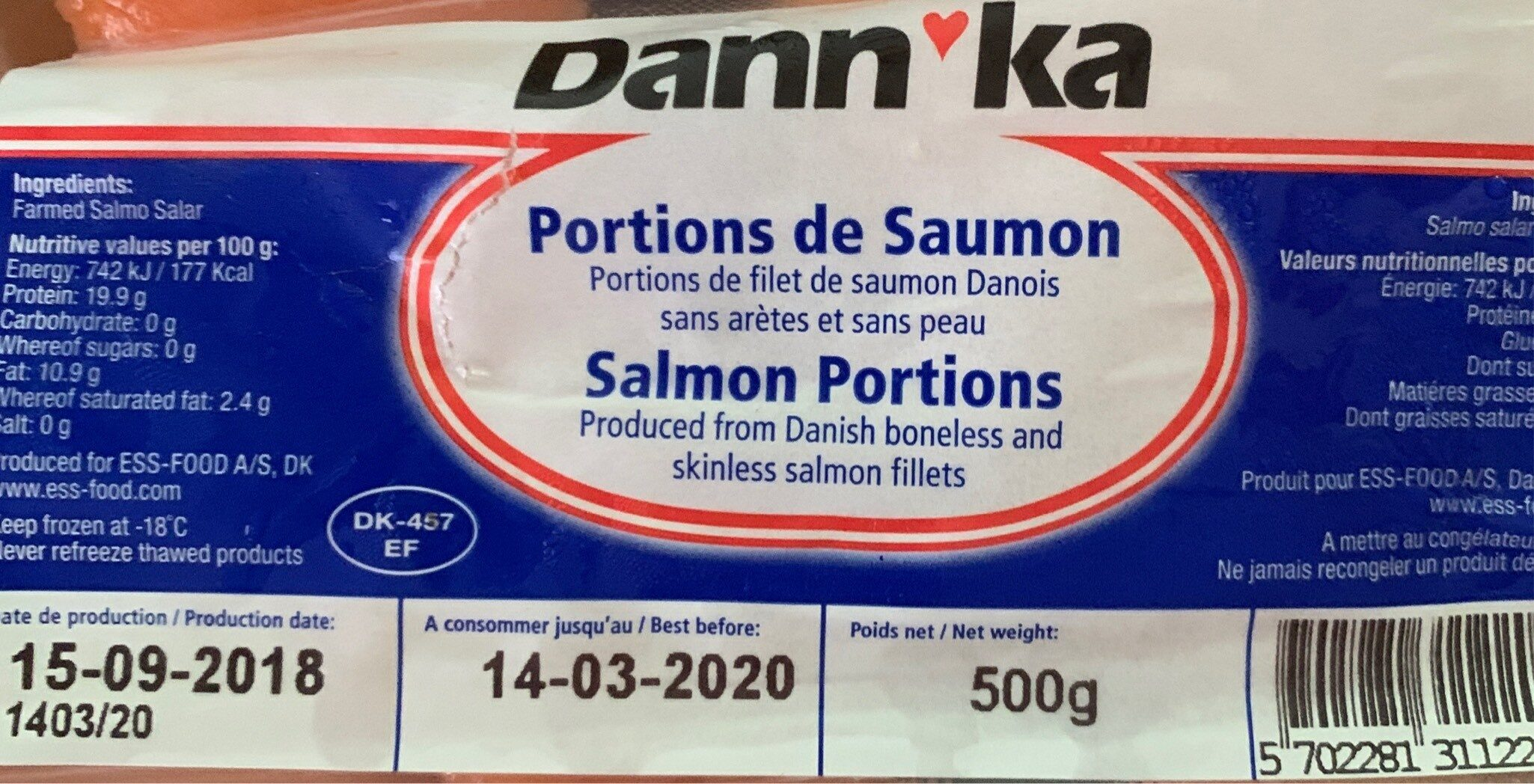 Portions de samin - Produit - fr