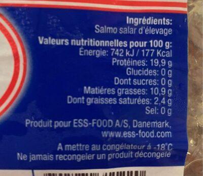 Portions de samin - Informations nutritionnelles - fr