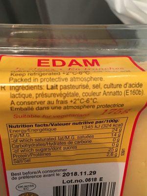 Edam En Tranches - Ingrediënten - fr