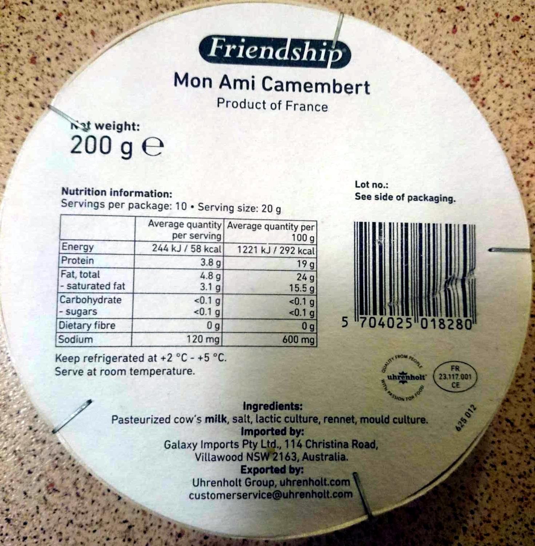Mon Ami Camembert - Product - en