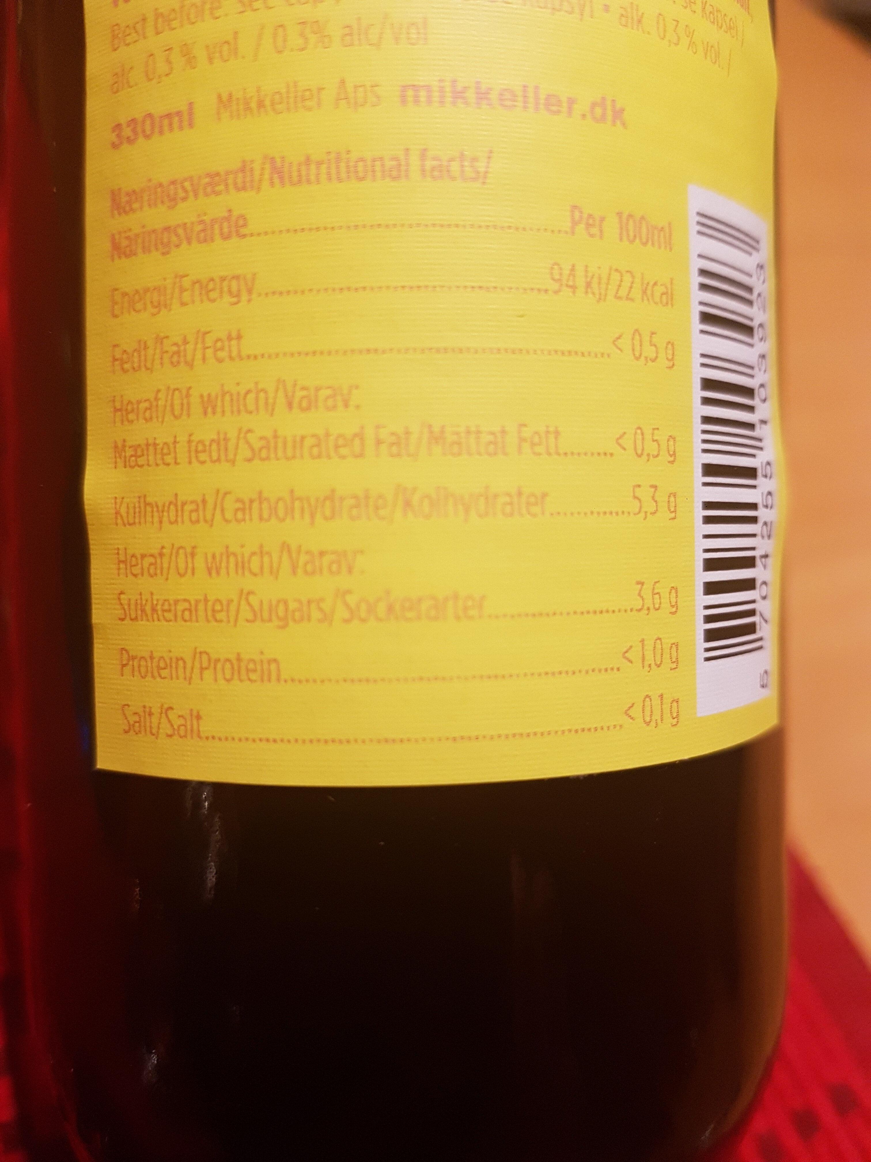 Cerveza Drink'in - Nutrition facts - en