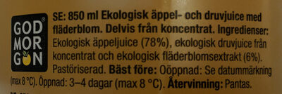 Eko Organic Apple & Elderflower - Ingrediënten - sv
