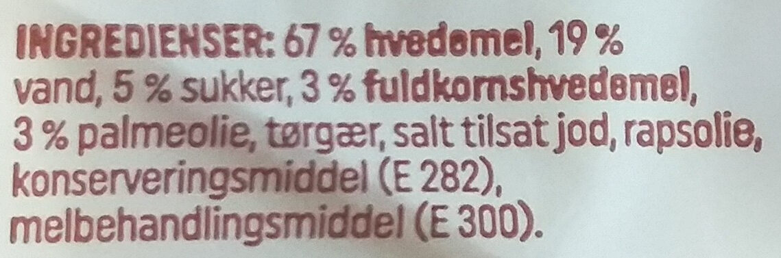 Pølsebrød - Ingredienti - da
