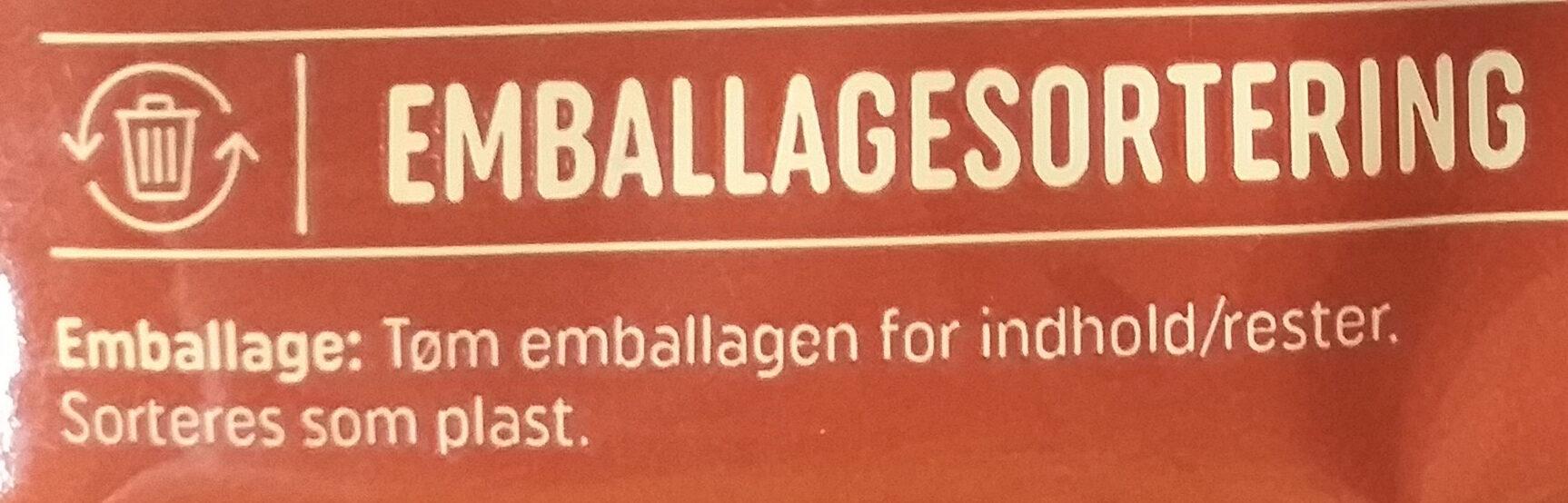 Pølsebrød - Istruzioni per il riciclaggio e/o informazioni sull'imballaggio - da