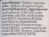 Bearnaise Sås - Ingredients