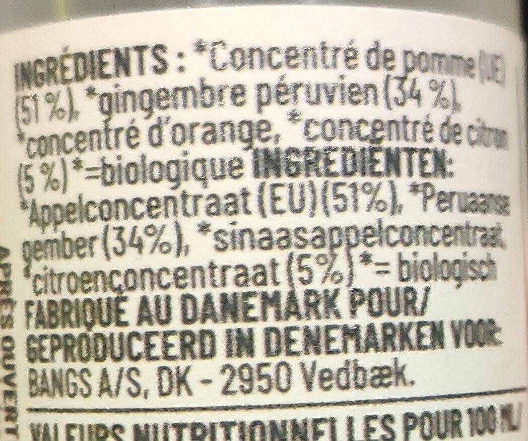 Boisson au gingembre - Ingredienti - en