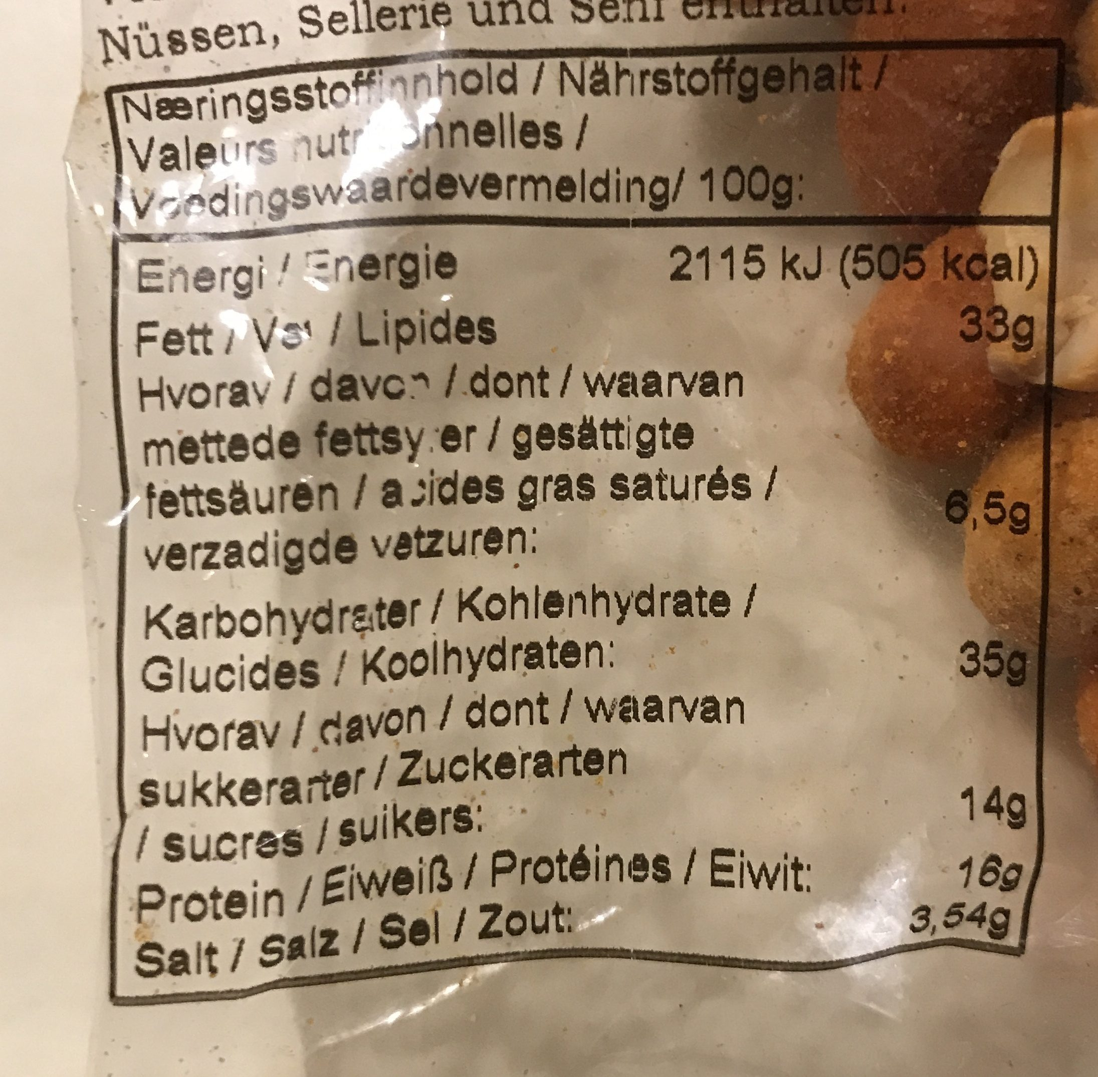 Peanøttsymfoni - Ingredients