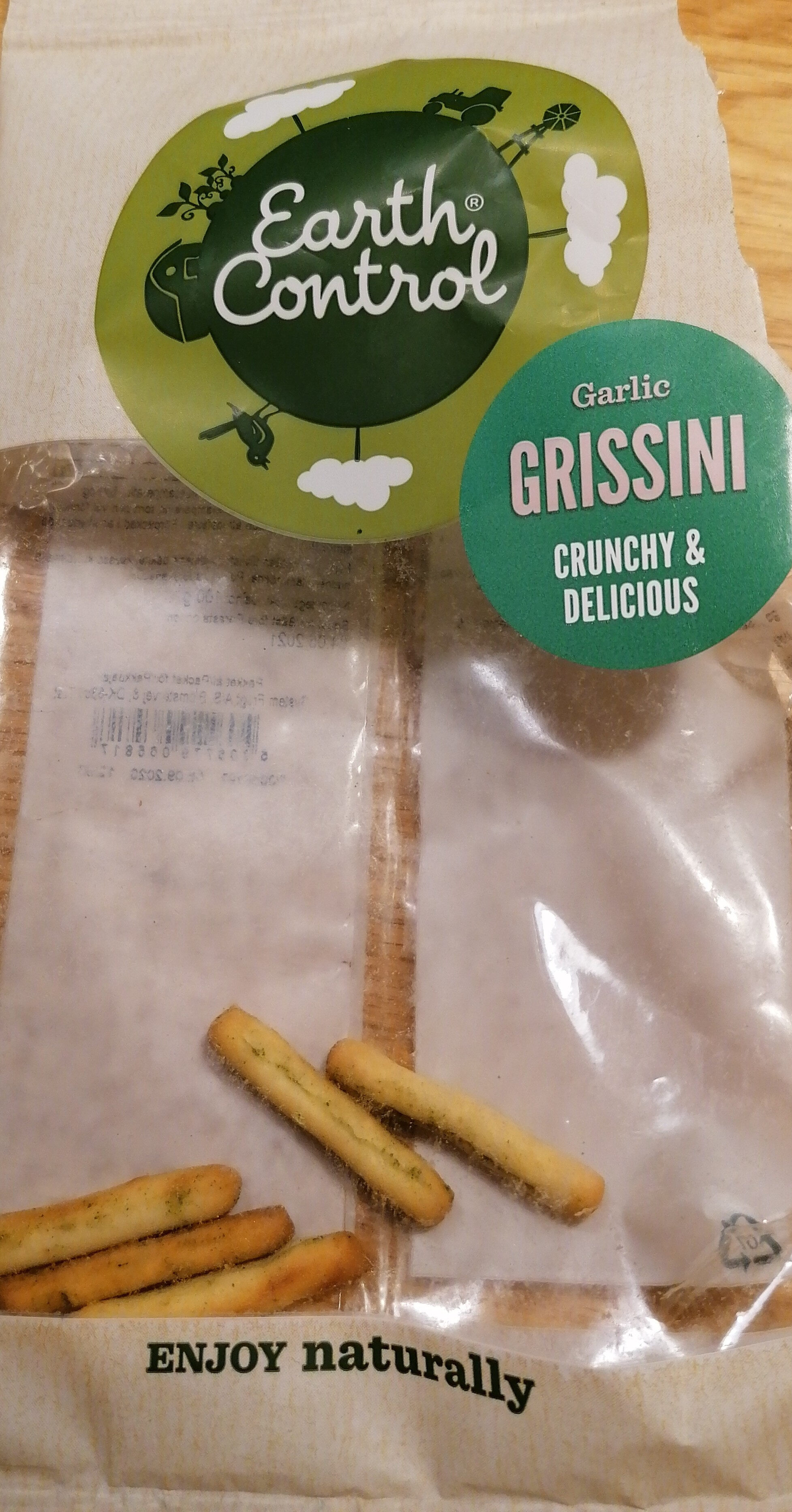 Earth controll garlic grissini - Produit - sv