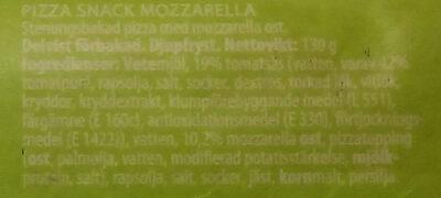 Nice 'n easy Stone oven pizza Mozzarella - Ingrédients