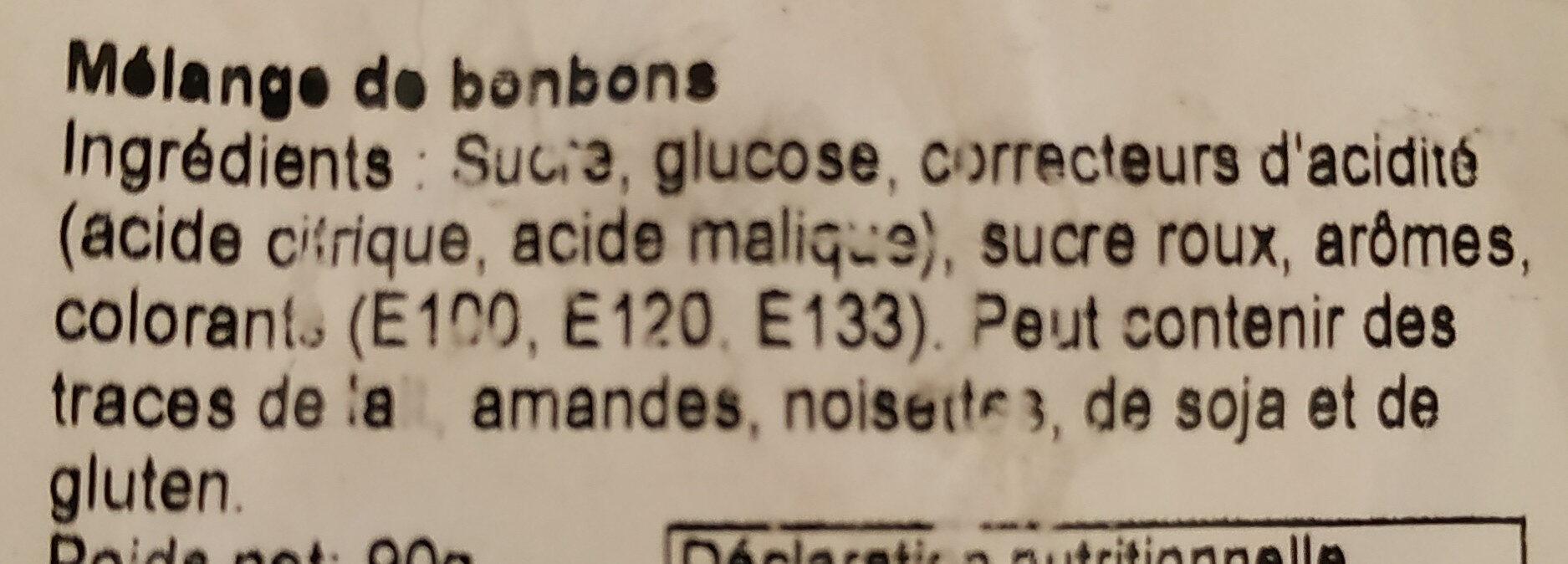 Mélange de bonbons - Ingredients - fr