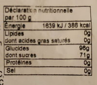 Mélange de bonbons - Nutrition facts - fr