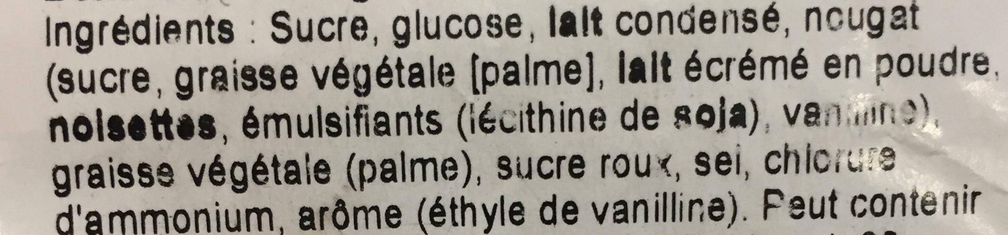 Bonbons au nougat - Ingredients