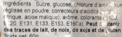 Hold niand bolcher - Ingredients