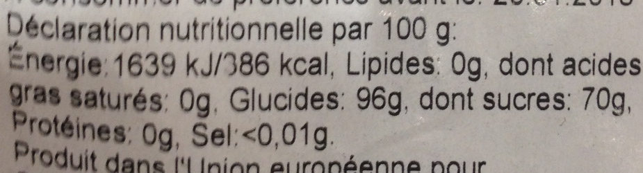 Hold niand bolcher - Nutrition facts