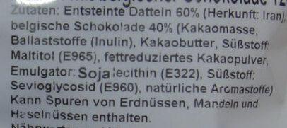 Datteln mit belgischer Schokolade - Ingredienti - de