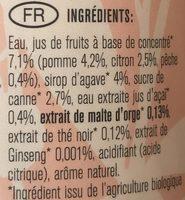 Black tea peach - Ingrediënten - en